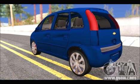 Chevrolet Meriva para GTA San Andreas vista posterior izquierda