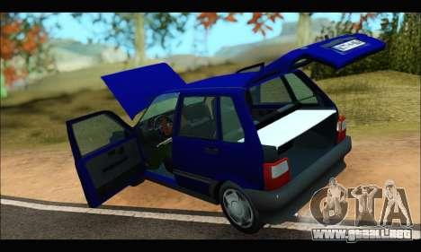 Zastava Yugo Uno para GTA San Andreas vista hacia atrás