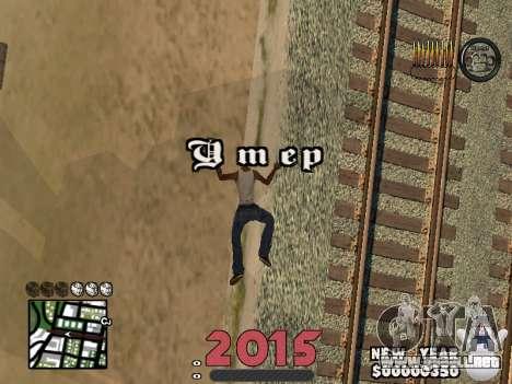 CLEO HUD New Year 2015 para GTA San Andreas quinta pantalla