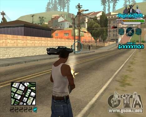 C-HUD for Aztecas para GTA San Andreas segunda pantalla