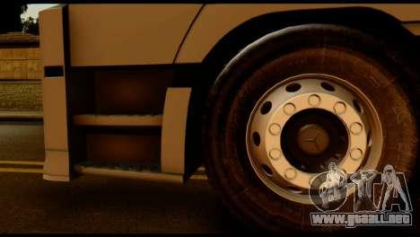 Mercedes-Benz Actros PJ2 para GTA San Andreas vista posterior izquierda