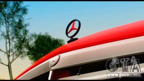 Mercedes-Benz E250 para GTA San Andreas vista hacia atrás