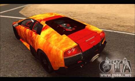 Lamborghini Murcielago In Flames para la visión correcta GTA San Andreas