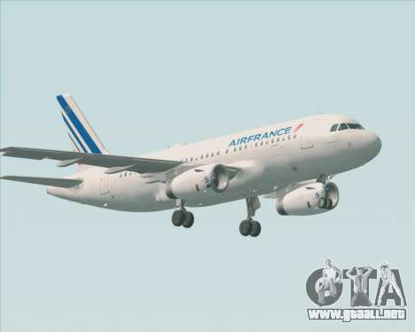 Airbus A319-100 Air France para la vista superior GTA San Andreas