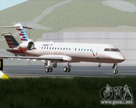 Bombardier CRJ700 American Eagle Airlines para la vista superior GTA San Andreas