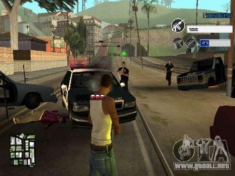C-HUD by SampHack v.22 para GTA San Andreas tercera pantalla