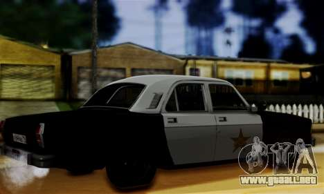GAS 3102 Volga - Sheriff para GTA San Andreas left