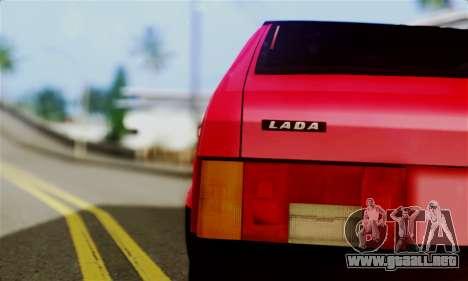 VAZ 2108 Hobo para GTA San Andreas vista posterior izquierda