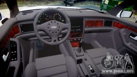 Audi 80 Cabrio euro tail lights para GTA 4 vista interior
