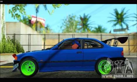 BMW e36 Drift Edition Final Version para GTA San Andreas vista posterior izquierda