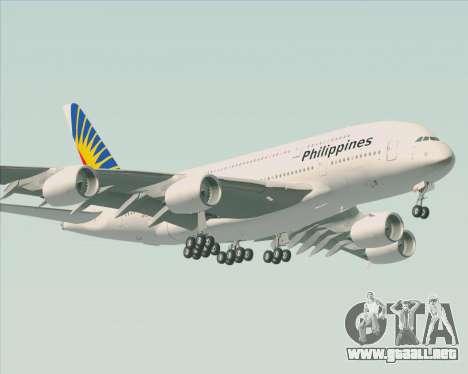 Airbus A380-800 Philippine Airlines para GTA San Andreas vista hacia atrás