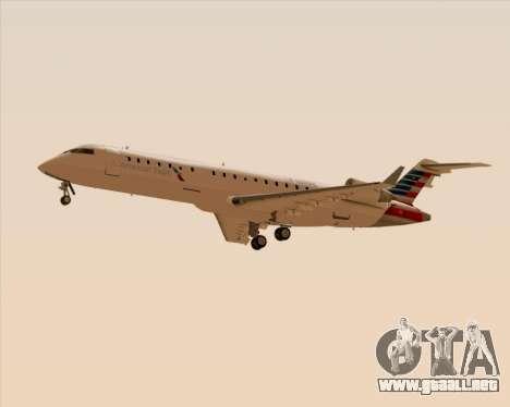Bombardier CRJ700 American Eagle Airlines para vista lateral GTA San Andreas