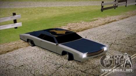 Buccaneer 2.0 para GTA San Andreas vista posterior izquierda