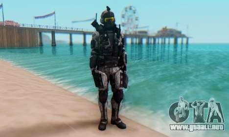 C.E.L.L. Soldier (Crysis 2) para GTA San Andreas segunda pantalla