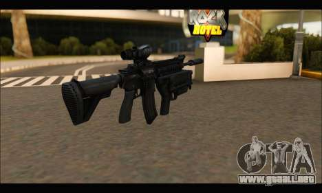 HK416 M320 Devgru para GTA San Andreas segunda pantalla