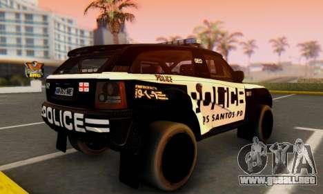 Bowler EXR S 2012 v1.0 Police para GTA San Andreas left