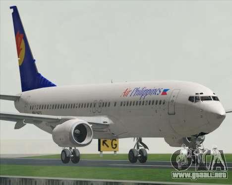 Boeing 737-800 Air Philippines para GTA San Andreas