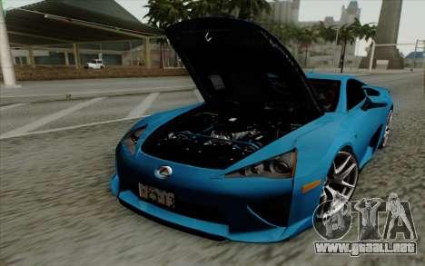 Lexus LF-A 2010 para la visión correcta GTA San Andreas