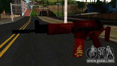 La Víspera de Año nuevo Rifle de Asalto 2 para GTA San Andreas