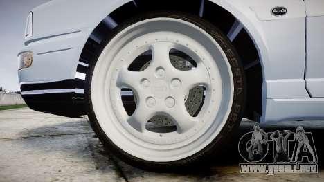 Audi 80 Cabrio euro tail lights para GTA 4 vista hacia atrás
