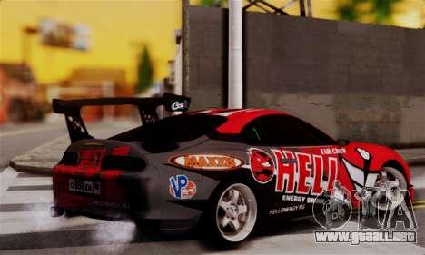Toyota Supra HELL DT para GTA San Andreas left