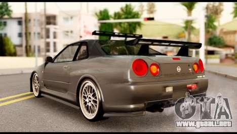 Nissan Skyline R34 Z para GTA San Andreas