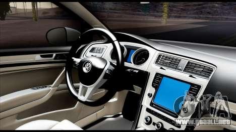 Volkswagen Golf 7 para GTA San Andreas vista hacia atrás