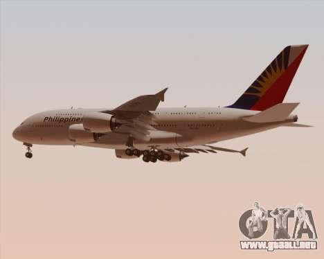 Airbus A380-800 Philippine Airlines para visión interna GTA San Andreas