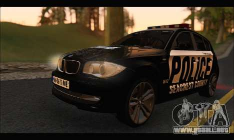 BMW 120i USA Police para GTA San Andreas left