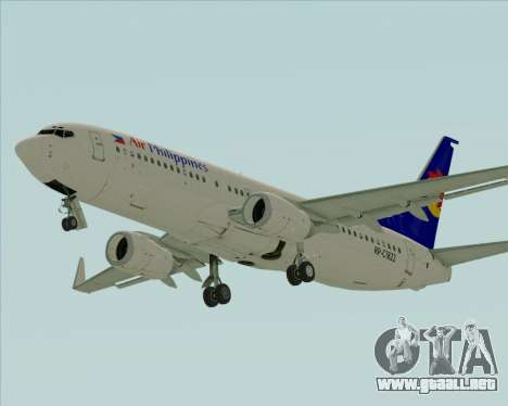 Boeing 737-800 Air Philippines para GTA San Andreas left