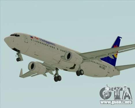 Boeing 737-800 Air Philippines para GTA San Andreas left