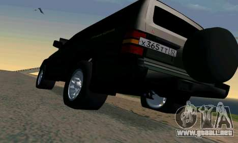 Mitsubishi Pajero Intercooler Turbo 2800 para la vista superior GTA San Andreas