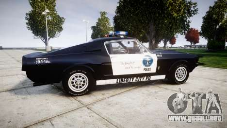 Ford Shelby GT500 Eleanor Police [ELS] para GTA 4 left