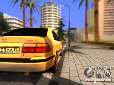 Mazda 626 para GTA San Andreas vista posterior izquierda