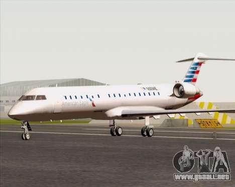 Bombardier CRJ700 American Eagle Airlines para GTA San Andreas vista posterior izquierda
