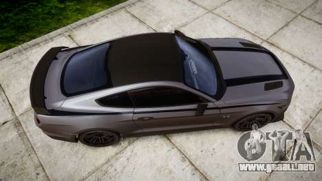 Ford Mustang GT 2015 Custom Kit black stripes para GTA 4 visión correcta