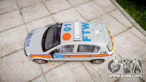 Vauxhall Astra 2009 Police [ELS] 911EP Galaxy para GTA 4 visión correcta