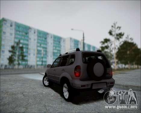 Chevrolet Niva para GTA San Andreas vista hacia atrás