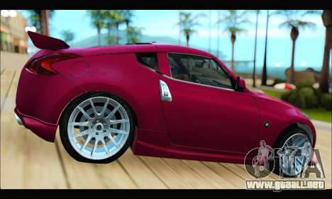 Nissan 370Z 2010 Stanced para GTA San Andreas left