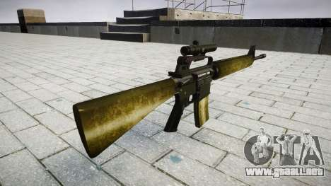 El rifle M16A2 [óptica] de oliva para GTA 4 segundos de pantalla