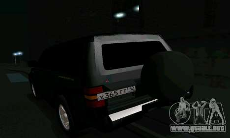 Mitsubishi Pajero Intercooler Turbo 2800 para GTA San Andreas interior