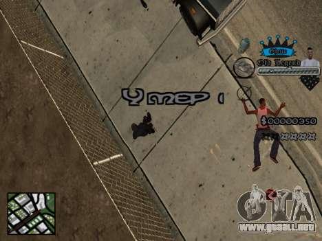 C-HUD Old Legend para GTA San Andreas sucesivamente de pantalla