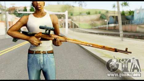 Mosin Nagant from Metal Gear Solid para GTA San Andreas tercera pantalla