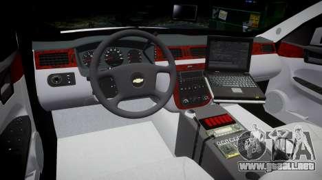 Chevrolet Impala Martin County Sheriff [ELS] para GTA 4 vista hacia atrás