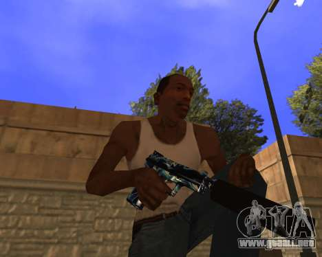 Blue Chrome Weapon Pack para GTA San Andreas tercera pantalla