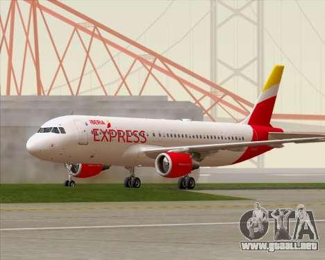 Airbus A320-200 Iberia Express para GTA San Andreas left