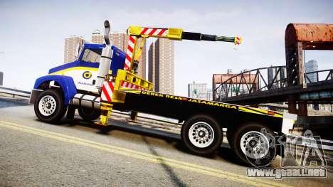 HVY Biff Indonesian Jasamarga Tow Truck [ELS] para GTA 4 left