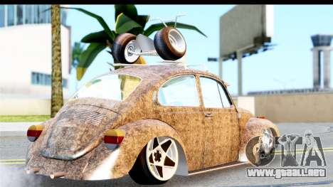 Volkswagen Beetle Vosvos 1973 para GTA San Andreas left