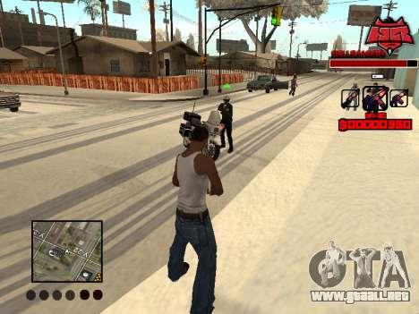 C-HUD Raisers para GTA San Andreas sucesivamente de pantalla