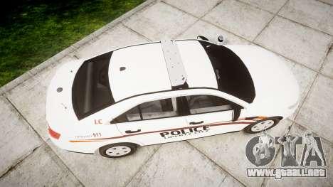 Ford Taurus 2014 Police Interceptor [ELS] para GTA 4 visión correcta
